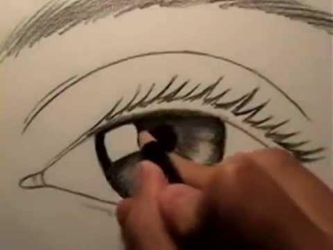видео: Как нарисовать глаз www.kancpalitra.ru