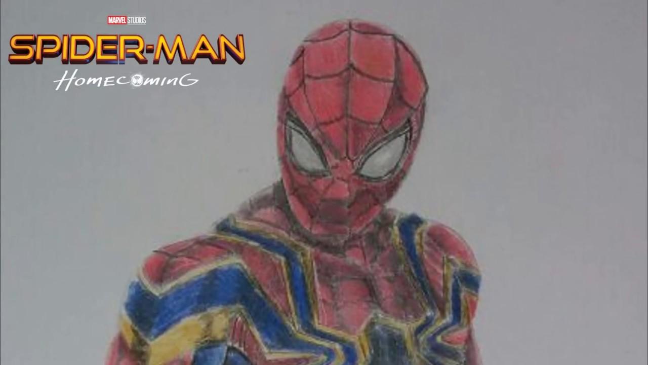 Desenhando Homem Aranha De Volta Ao Lar Guerra Infinita Marvel Comics