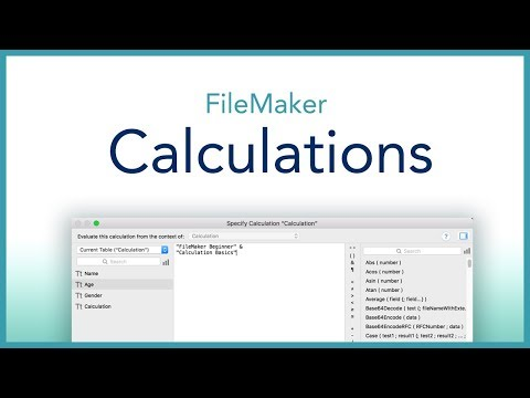 FileMaker Calculation Basics