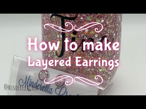How to make layered resin earrings