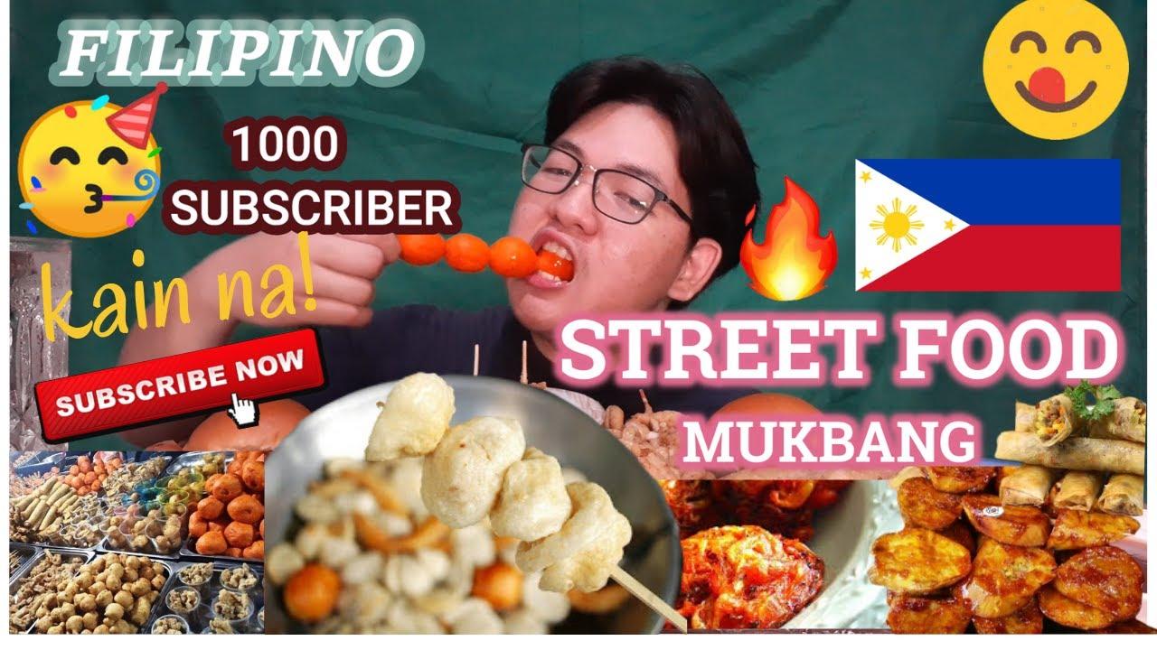 FILIPINO STREETFOODS MUKBANG & 1K SUBS CELEBRATION|| ISAW| KWEK KWEK| FISHBALL & MORE