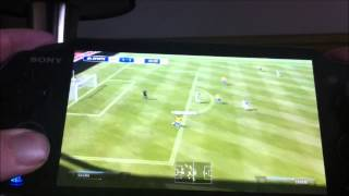 gameplay match en ligne FIFA 14 ps vita
