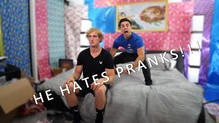 I WRAPPED LOGAN PAULS ROOM ***PRANKWARS***