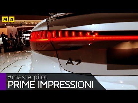 Audi A7 2018, ecco la nuova 55 TFSI di nuova generazione   Live from Detroit 2018 [ENGLISH SUB]