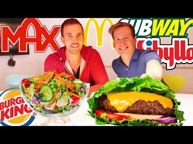 Vi köper alla nyttiga alternativ på MAX, McDonalds, Burger King, Subway & Sibylla