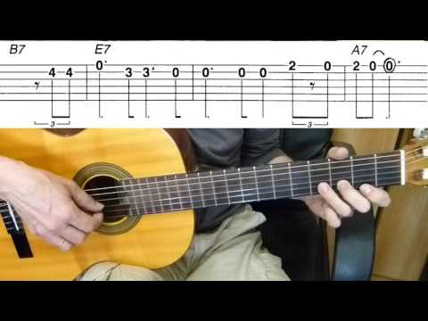 Guitar lesson - Only You (And You Alone)  - Easy Guitar melody tutorial + TAB