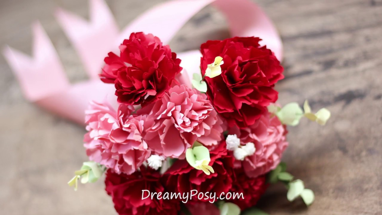 Free template how to make bridal bouquet of paper carnation youtube free template how to make bridal bouquet of paper carnation izmirmasajfo