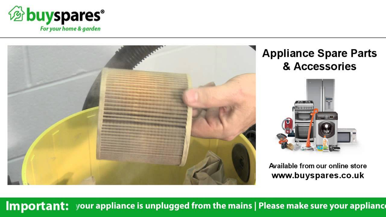How To Replace The Cartridge Filter In A Karcher Wet And Dry Vacuum Wd4 Mv 4 Premium Cleaner Youtube