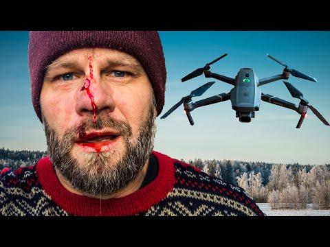 I crashed my DJI Mavic pro 2 in THE FACE!! (Epic DRONE CRASH)