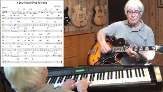 I Only Have Eyes For You - Jazz guitar & piano cover ( Harry Warren ) Yvan Jacques