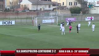 Serie D Girone D V.A.Sansepolcro-Lentigione 2-2