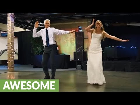 Father & daughter pull off epic surprise dance at wedding reception