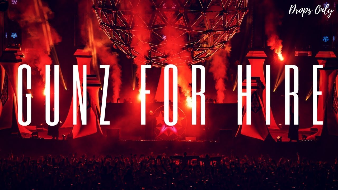 Hardstyle Drops Only Gunz For Hire @ Qlimax 2017 Youtube