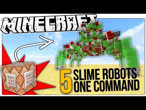 Thumbnail: The COOLEST Minecraft Slime Block Redstone Robots In Only One Command Block!