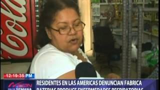 Residentes Las Américas denuncian fabrica baterías produce enfermedades respiratorias