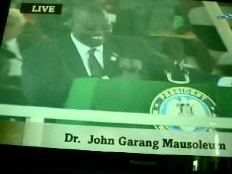 Dr.  Riek Machar vice Pres  of the Republic of  South Sudan.
