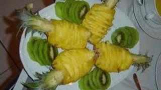 Как нарезать ананас(Как нарезать ананас Нарезаем ананас правильно Подписывайтесь на мой канал https://www.youtube.com/user/victor777smirnov Доба..., 2014-05-18T10:59:50.000Z)