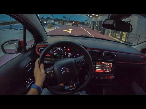 Citroen C3 Night   4K POV Test Drive #280 Joe Black