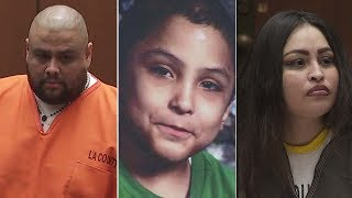 A Palmdale mother and her boyfriend were sentenced Thursday in the torture killing of her 8-year-old son, who was beaten and tortured until his death.