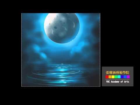 奇幻背景素材/張雅涵繪圖(Mysterious Moonlight-simple fast drawing, painting art tutorial)