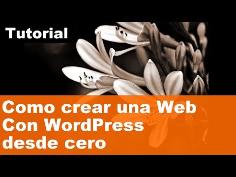 Como crear una página web con WordPress desde cero. Tutorial WordPress