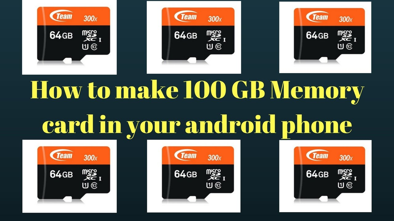 How to create 100 GB memory in your android phone.