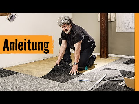 teppichfliesen verlegen hornbach meisterschmiede youtube. Black Bedroom Furniture Sets. Home Design Ideas
