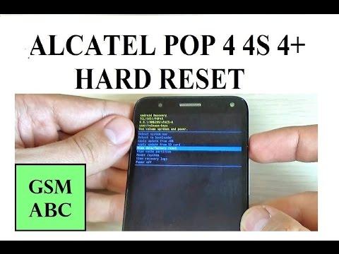 Alcatel POP 4, 4S , 4+ HARD RESET