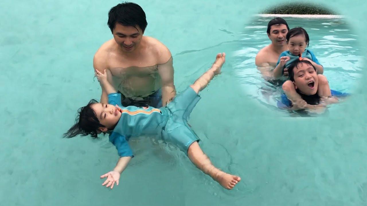 น้องปลาวาฬ l ว่ายน้ำในสระใหม่ กระโดดน้ำท่าลูกมะพร้าวหล่น