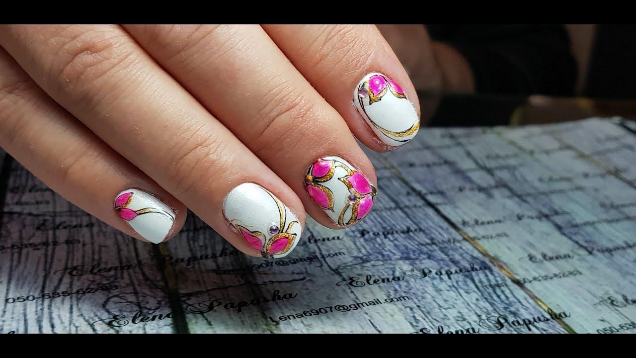 дизайн на короткие ногти весна 6
