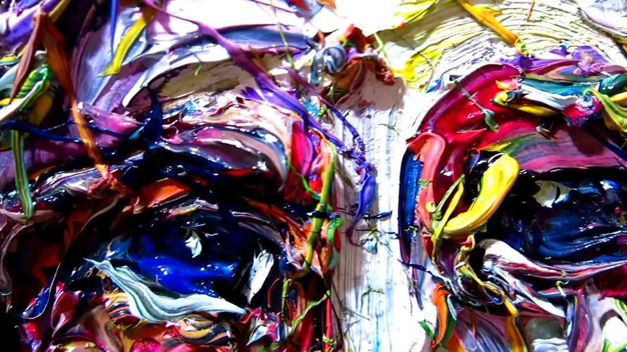 Crazy Painting Expressionist Oil Painting X843 Dripping Thick Oils Splashing