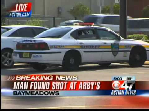 Jacksonville, Fl News... Man found shot in Arby's parking lot