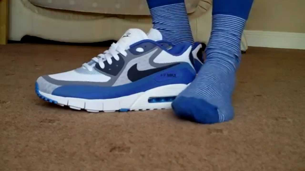 nike air max 90 breathe trainers blue