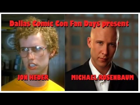 Dallas Comic Con Fan Days: Jon Heder & Michael Rosenbaum Q&A