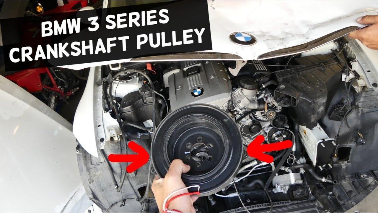 BMW Auto Repair >> BMW E90 CRANKSHAFT PULLEY REMOVAL REPLACEMENT E91 E92 E93 ...