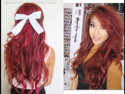 dying my hair red w highlights youtube