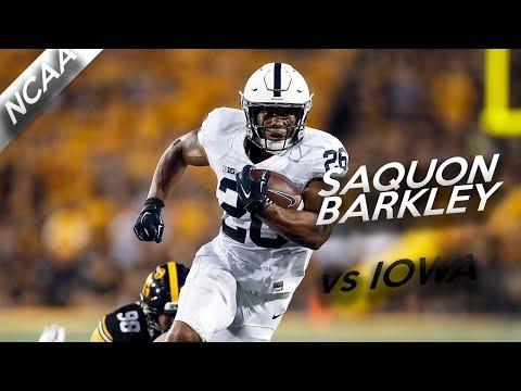 Saquon Barkley Highlights vs Iowa // 40 Touches, 305 Yards, 1 TD // 9.23.17