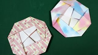 "Origami ""camellia"" 折り紙 「つばき」 ▽My Origami Channel ○YouTube h..."