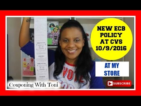 New ECB Policy at my CVS Store   10/9/2016