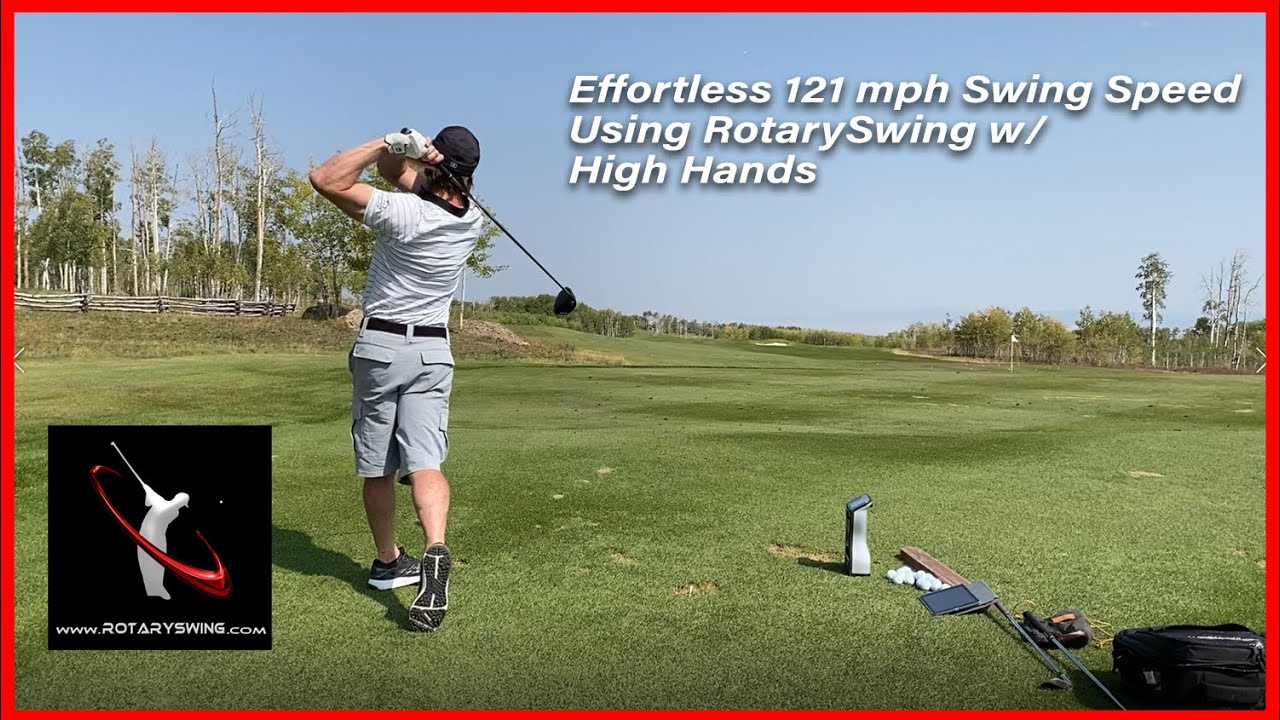 121 mph RotarySwing - High Hands vs. Low Hands Testing by Chuck Quinton