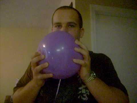 My older brother sucking up helium