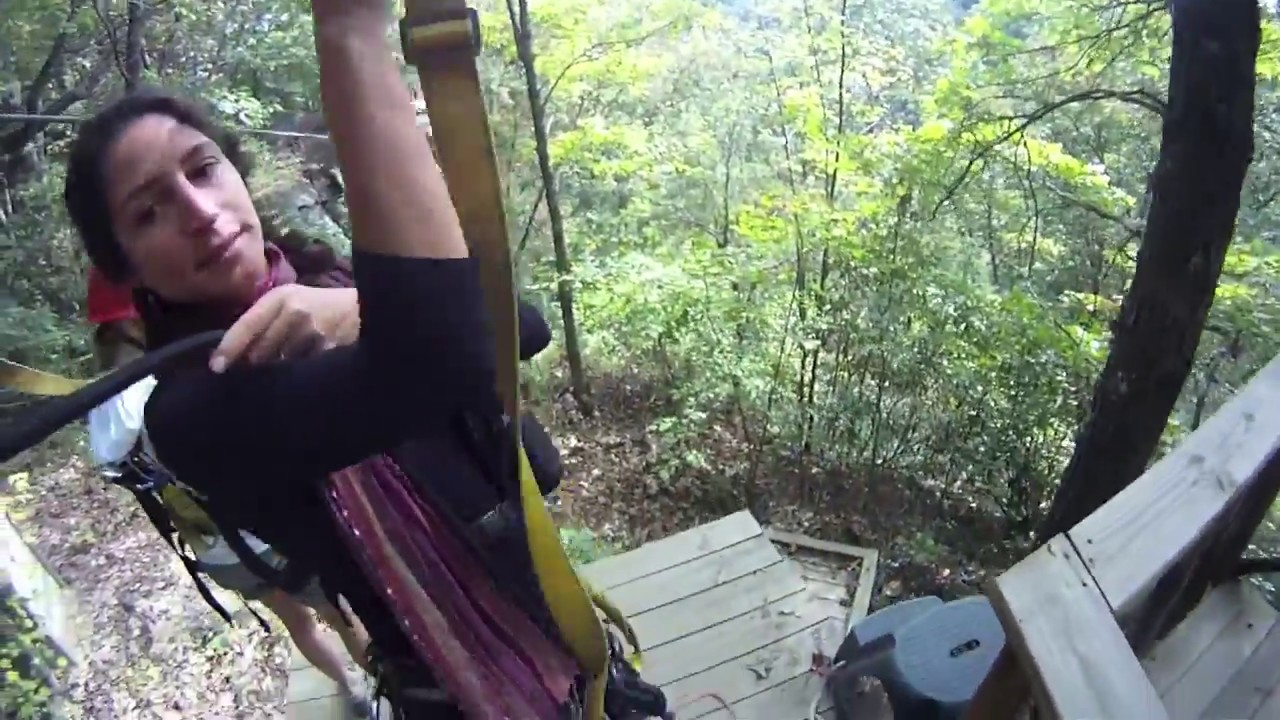 2012 New River Gorge Wv Gopro Zip Line Part 1 Ace Adventures Youtube