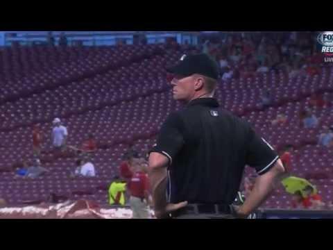 Lightning strikes Great American Ball Park