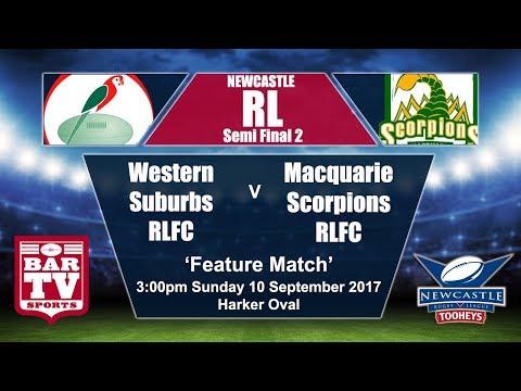 2017 Newcastle RL Major Semi Final - Western Suburbs Rosellas v Macquarie Scorpions