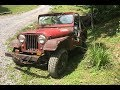 Starter break down and rebuild on a 1965 CJ5 Jeep, While stuck miles back in the woods