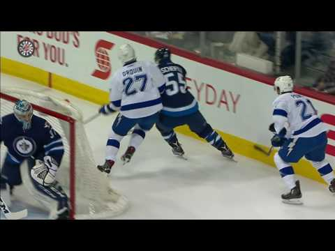 Drouin outworks Jets, sets up beautiful goal
