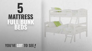 Top 10 Mattress Full Bunk Beds [2018]: Dorel Living Brady Twin over Full Solid Wood Kids Bunk Bed https://clipadvise.com/deal/
