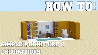 HOW TO: Simple Furniture & Decorations - Minecraft Tips & Tricks