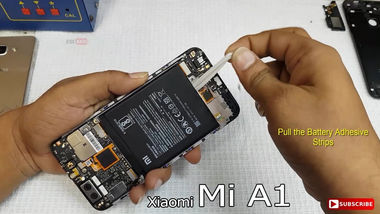 Xiaomi Mi A1 Battery Replacement || How to Replace Mi A1 Back Panel and  Battery