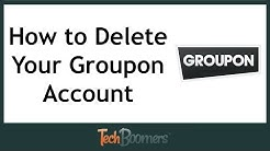 How to Delete Your Groupon Account